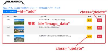 Ajax、PHP、mySQLで画像アップロードWEBアプリ 作り方